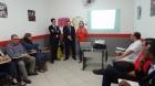 Café da manha, para os empresários de Várzea Paulista, apresentando no Banco Sicredi com parceria com Associação.